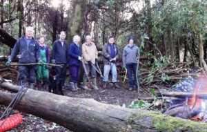 Some of the volunteers at a recent Fryern Dell Work Party